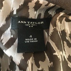 Ann Taylor Jackets & Coats - Ann Taylor Brown Leopard Lined Blazer size 4